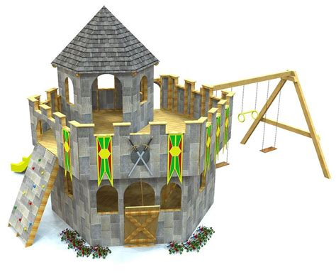 1000 Ideas About Castle Playhouse On Pinterest Swing