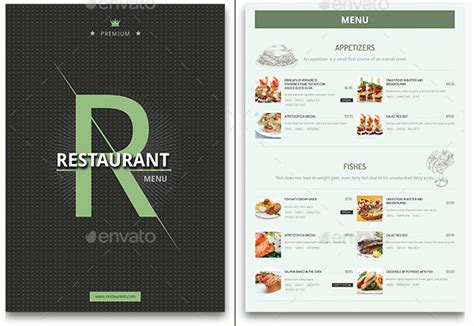 best food menu designs templates for restaurants