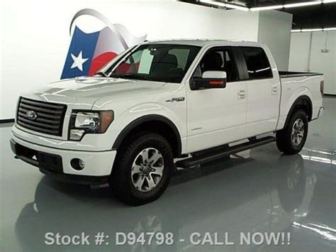2012 ford f 150 fx4 ecoboost white crew cab 20 inch wheels f 150 photo buy used 2012 ford f 150 fx4 crew 4x4 ecoboost side steps