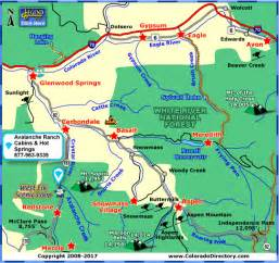 springs map colorado avalanche ranch cabins and springs along the