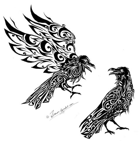 norse raven tattoo hugin and munin search vikings