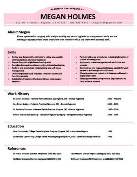 33 best dental hygiene resumes images on resume templates dental hygienist and