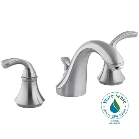 Kohler Forte 8 In Widespread 2 Handle Low Arc Bathroom 3 Bathroom Sink Faucet