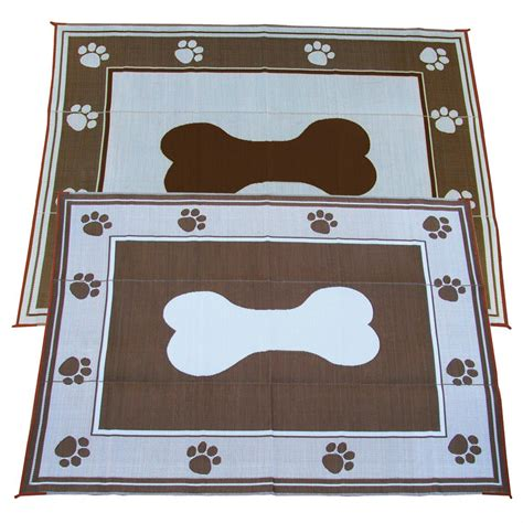 6x9 doggy bone indoor outdoor reversible rv mat from