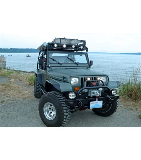 jeep yj 86 95 183 ranger rack 183 multi light setup gobi racks