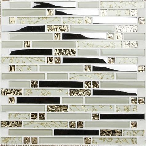 glass and stainless steel backsplash stainless steel mosaic tiles ssmt005 glass mosaic tile