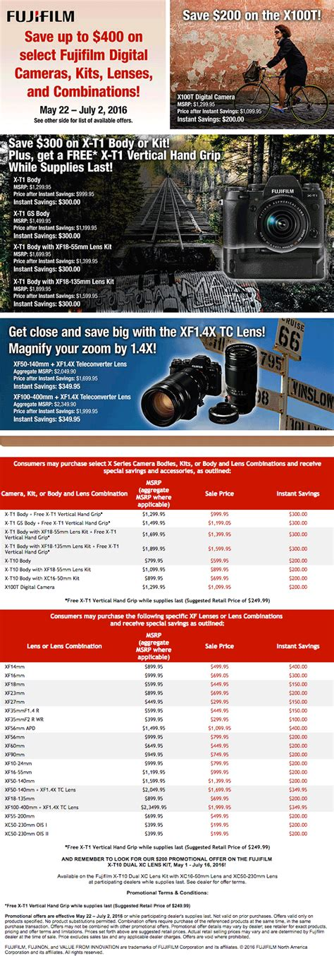 fuji new new fuji rebates now available in the us photo rumors