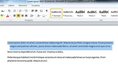 allineamento testo html come allineare un testo con word salvatore aranzulla