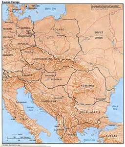 eastern europe physical map 1984 size