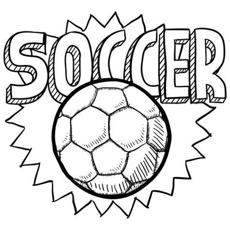 soccer ball coloring page for kids kidspressmagazine com