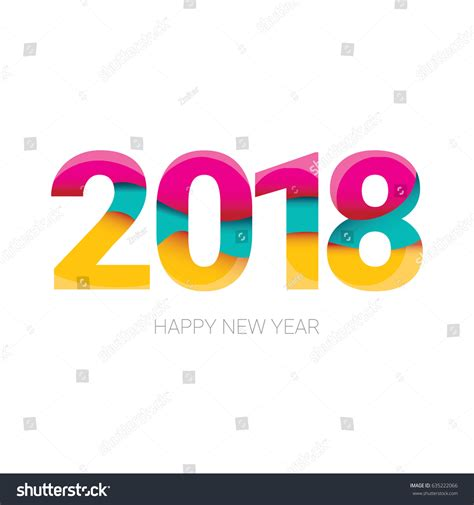2018 happy new year creative design stock vector 635222066