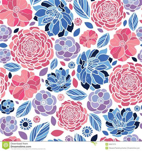 flowers seamless pattern element vector background mosaic flowers seamless pattern background stock vector