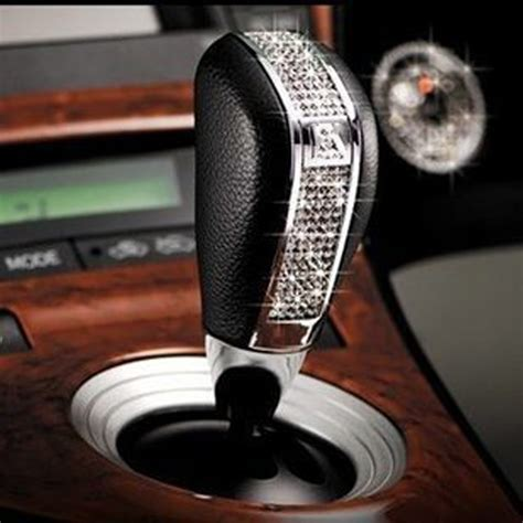 Bling Gear Shift Knobs by Universal Bling Rhinestone Leather Car Suv Gear