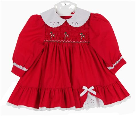Polly flinders red smocked dress with candy cane embroidery polly flinders red smocked christmas