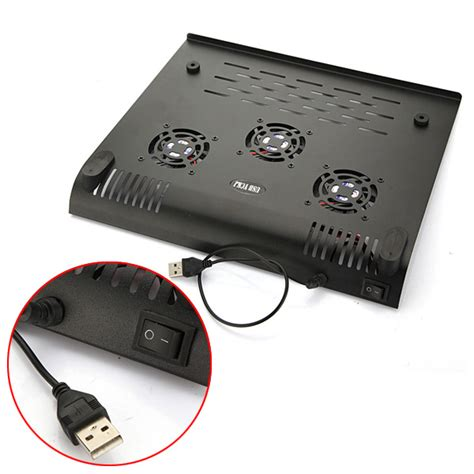 cooling fan with usb connection 3 fans usb laptop black iron cooler cooling pad fits 9