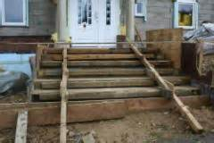 einschalen einer treppe treppe zum hauseingang bauunternehmen