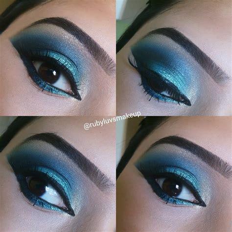 Eyeshadow Blue bold blue eyeshadow makeup tutorial