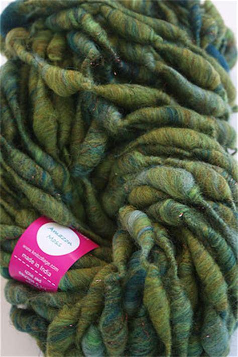 amazon yarn knitcollage pixie dust handspun yarn in amazon moss