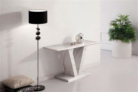 hera white grey marble  leg console hall sofa table