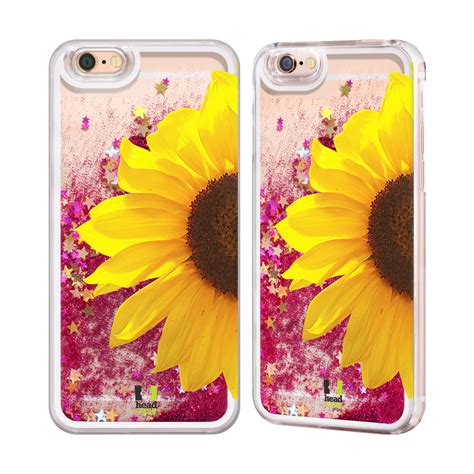 Sun Flower Phone For Iphone 5 sunflower pink liquid glitter for apple
