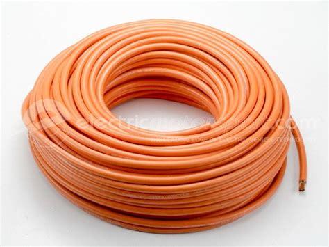 orange electrical wire welding wire 1 0 6 ga insulated copper wire ev standard