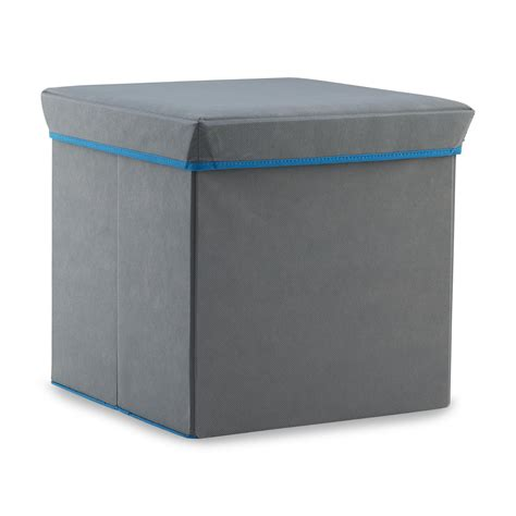 foldable storage ottoman bintopia gray folding storage ottoman