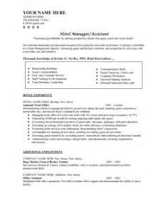 hotel job resume format hotel job resume samples template format of resume for job application to download data