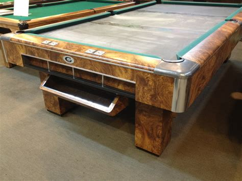 How Big Is A Regulation Pool Table by Sold Pre Owned 9ft Regulation Gandy Burl Finish Pool