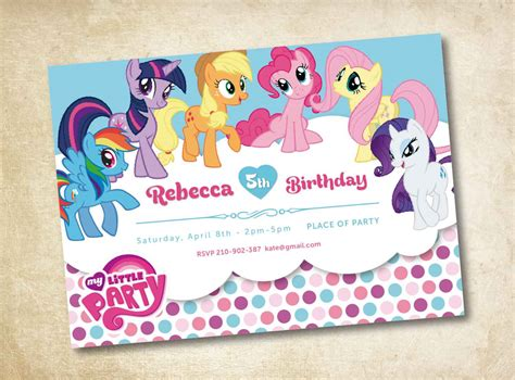 my little pony birthday invitations birthday party