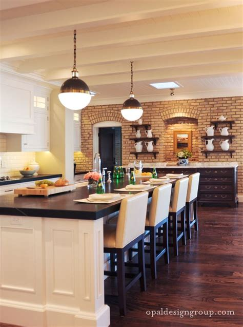 exposed brick kitchen warm kitchen with an exposed brick wall dream home