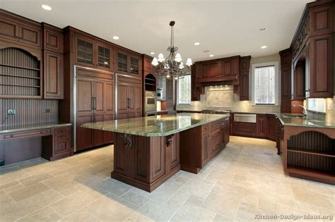 Kitchen Color Ideas With Wood Cabinets Pictures Of Kitchens Traditional Wood Kitchens Cherry Color Page 2