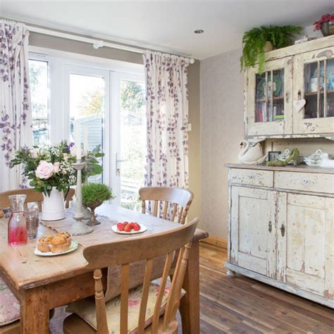 Country Dining Room Curtains Dining Room With Dresser And Floral Curtains Dining Room Housetohome Co Uk