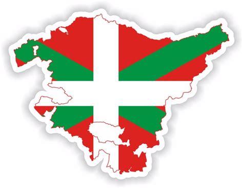 pais vasco basque 8497764021 sticker silhouette pa 237 s vasco pays basque country spain map flag for bumper car ebay