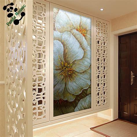 Handmade Wall Murals - mb smm04 home decor hallway handmade tile flower mosaic