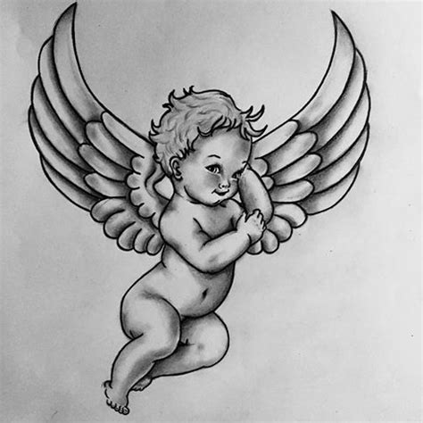 baby angel tattoos designs baby drawings elaxsir
