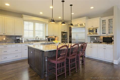 white kitchen wood island pictures of kitchens traditional two tone kitchen cabinets kitchen 152