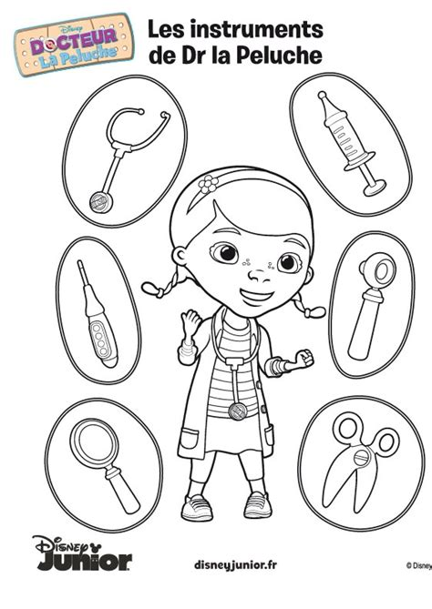 doc mcstuffins toys coloring pages coloriage de docteur la peluche 169 disney ziek zijn