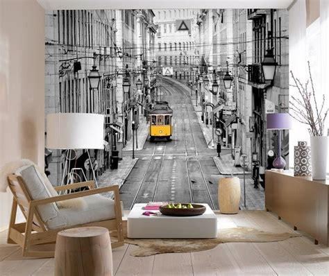 Non woven wall mural Wallpapers   Streets of Lisbon