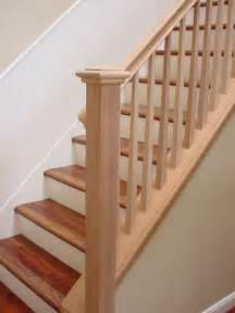mahogany stair rail square tapered balusters flickr