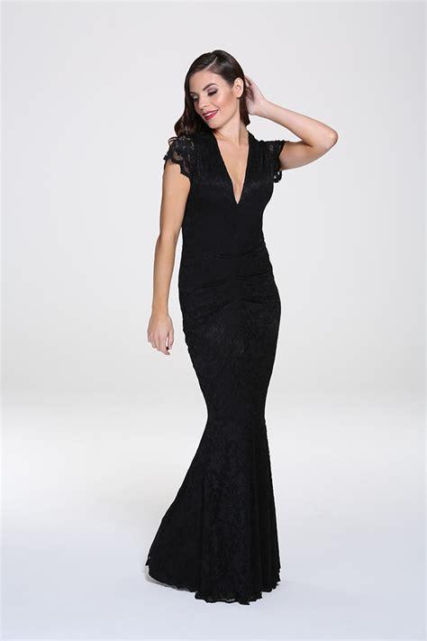Adriana4 Maxy black lace maxi dress honor gold adriannna