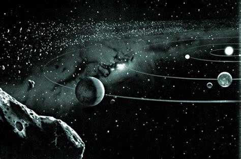 imagenes del universo a blanco y negro sistema solar