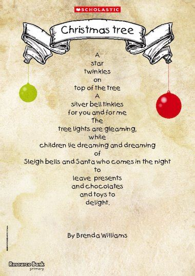 christmas tree shape poem primary ks1 teaching