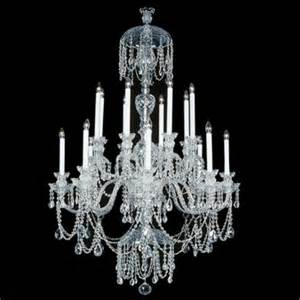 Chandelier Swarovski 16 Light Silvertone Swarovski Chandelier Lot