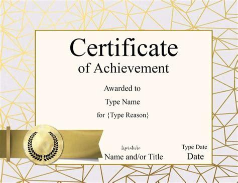 Certificate Templates Award Template