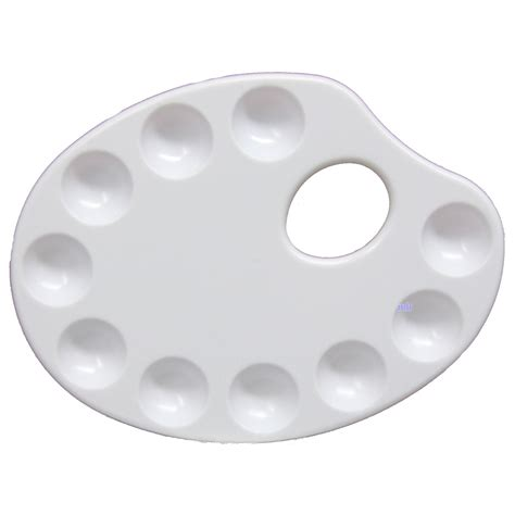 Mixing Palette 5 Shape paint mixing artists plastic palette 10 well oval kidney