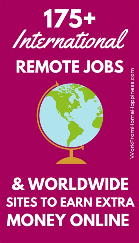 international work from home jobs and websites for extra cash work from home happiness - Online Jobs Worldwide Work From Home