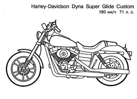 coloring pages of motorcycle harley davidson free coloring pages of harley softail