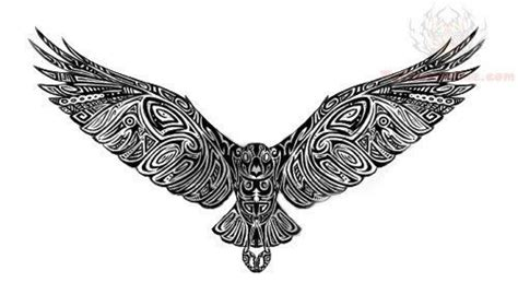 tribal falcon tattoo falcon design with all the intercay but maybe the