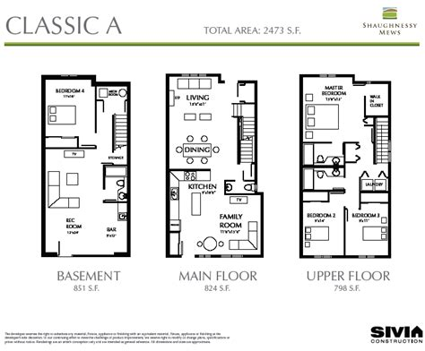 shaughnessy floor plan new vancouver condos for sale presale lower mainland