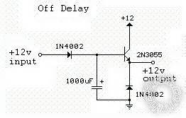 time delay off circuit